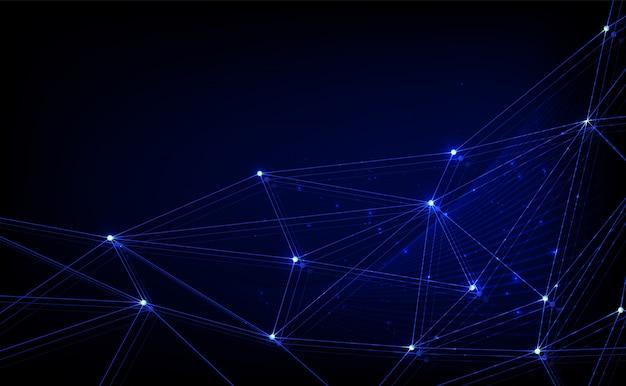 Plexus fantasy technologie abstraite et fond d'ingénierie