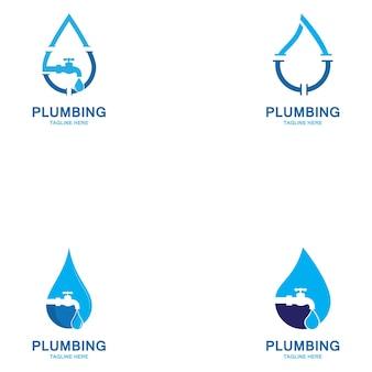 Plomberie logo vector icon illustration