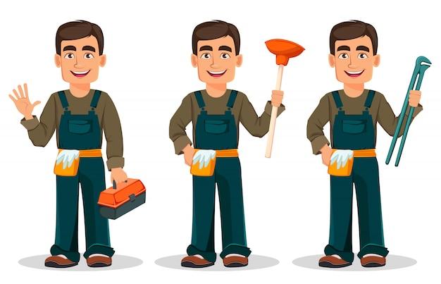 Plombier professionnel en uniforme