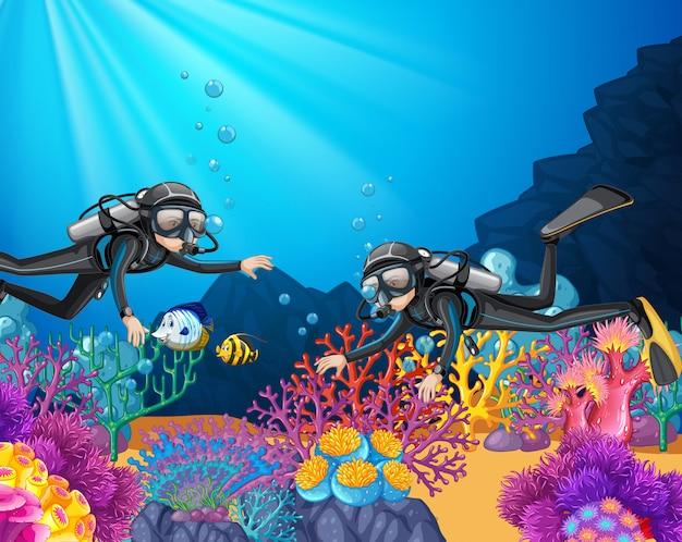 Plongée sous-marine dans les profondeurs océaniques