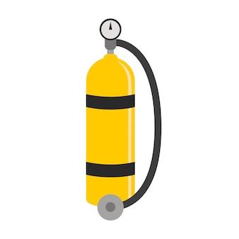 Plongée en style cartoon. conception plate d'équipement de plongée. illustration vectorielle.
