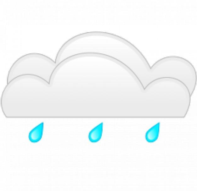 La pluie devenir nuageux