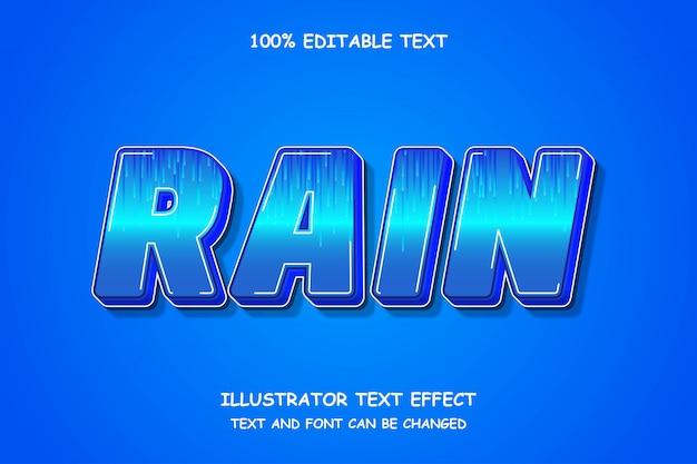 Pluie, effet de texte modifiable