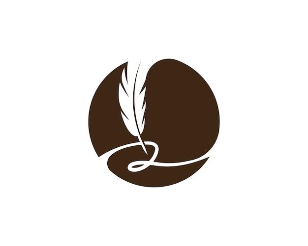 Plume stylo logo modèle