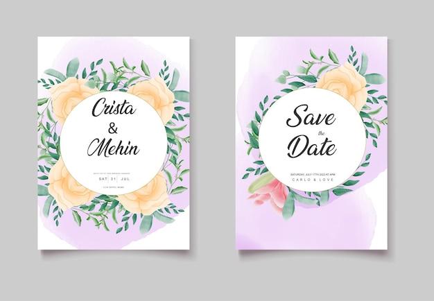 Plus belle carte d'invitation de mariage se