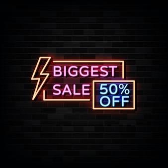 Le plus grand modèle d'enseignes au néon de vente style néon