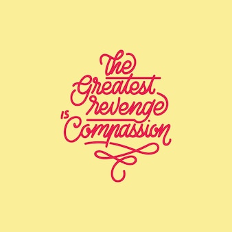 La plus grande typographie handcrafting de vengeance