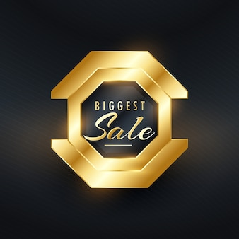 Plus grande vente premium insigne d'or et vecteur label design