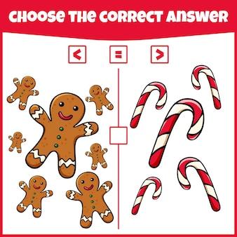 Plus inférieur ou égal comparer le nombre jeu de comptage jeu mathématique éducatif