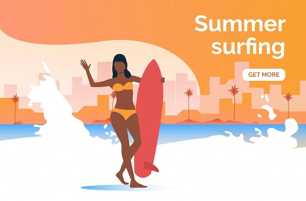 Plus de présentation sur le surf en été