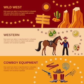 Plusieurs bannières occidentales