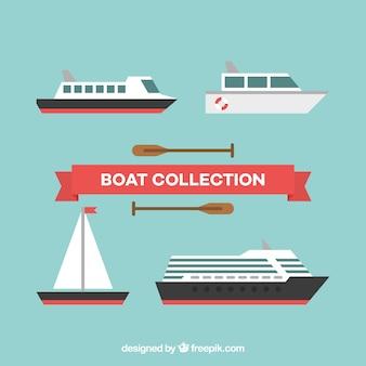 Plusieurs bateaux fantastiques en conception plate