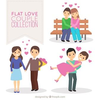 Plusieurs couples heureux en amour