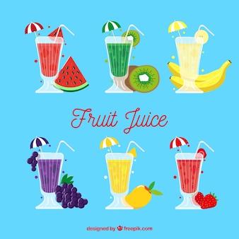 Plusieurs délicieux jus de fruits