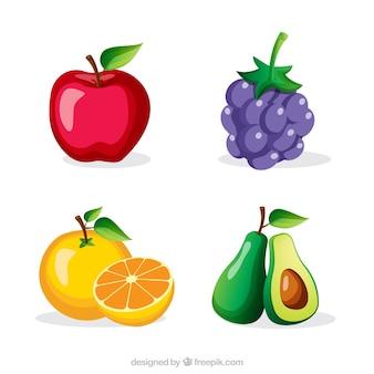 Plusieurs fruits savoureux