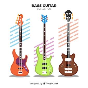 Plusieurs guitares avec différentes conceptions