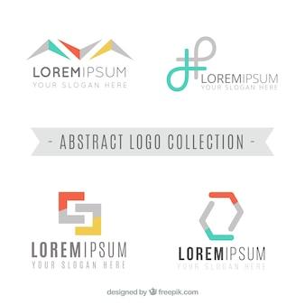 Plusieurs logos d'entreprise avec des formes abstraites