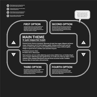 Plusieurs options infographiques