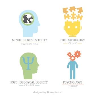 Plusieurs psychologie logos colorés