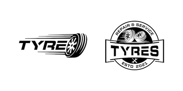 Pneu automobile, modèle d'inspiration de conception de logo de pneus