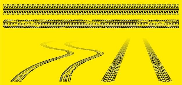 Pneus traces empreintes de pneus hors route grunge