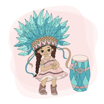 Pocahontas dance héros princesse indienne