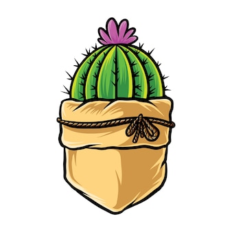 Poche de cactus drôle