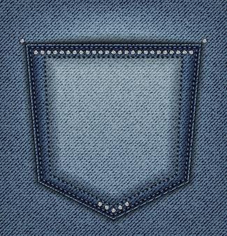 Poche en jean avec paillettes