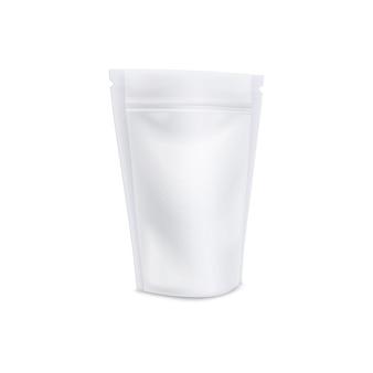 Pochette à café avec encoche zippée refermable et texture mate réaliste