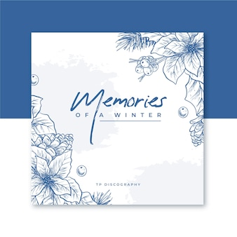 Pochette de cd d'hiver avec des fleurs
