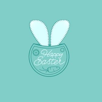 Pochette à imprimé lapin de pâques