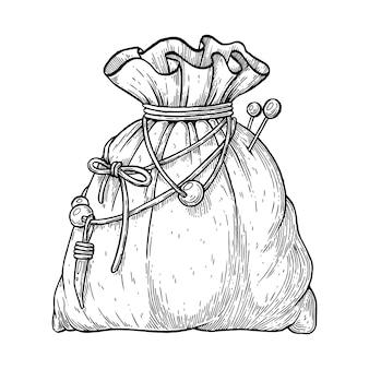 La pochette des sorcières illustration artistique vectorielle faite à la main avec un stylo et de l'encre sur papier