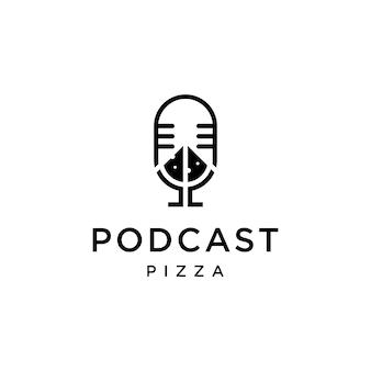 Podcast combiné avec création de logo de pizza