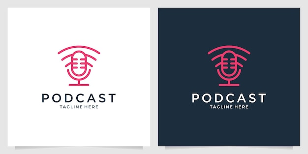 Podcast avec création de logo de réseau