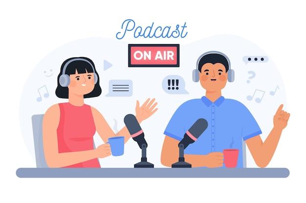 Podcast en direct avec des personnages