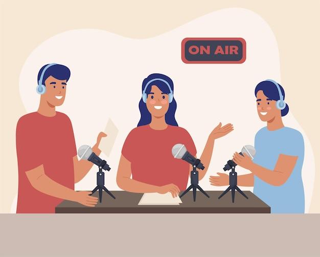 Podcasteur de personnes d'équipe