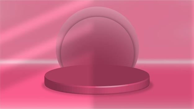 Podium 3d rose pour placement de produit