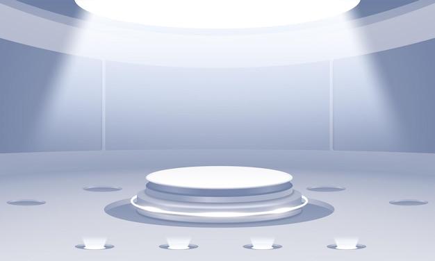 Podium abstrait 3d avec scène propre
