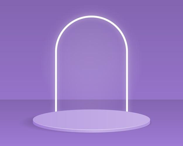 Podium de cylindre vide. conception pour la présentation du produit.