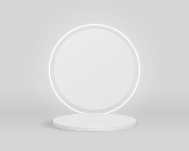 Podium de cylindre vide. scène minimale abstraite avec des formes géométriques. conception pour la présentation du produit. illustration 3d.