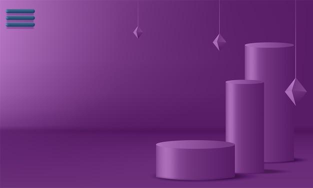 Podium d'exposition de produits décoré. illustration vectorielle