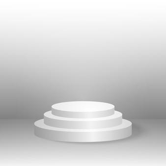 Podium, fond minimal, forme géométrique