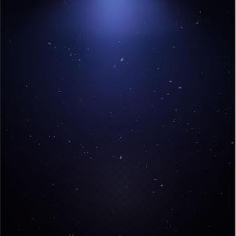 Le podium lumineux est vide avec les effets de la mise en évidence de la ligne bleue. piédestal néon podium illuminat.