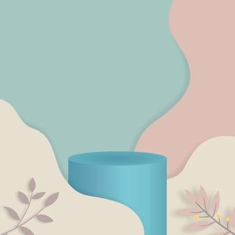 Podium en marbre de rendu 3d, scène de cylindre de produit.