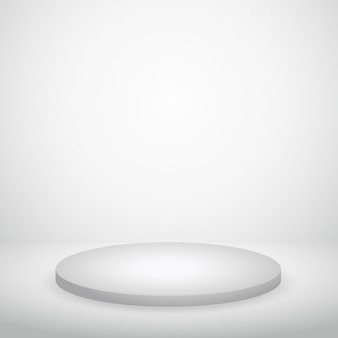 Podium mur blanc