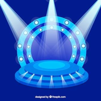 Podium plat avec un éclairage élégant