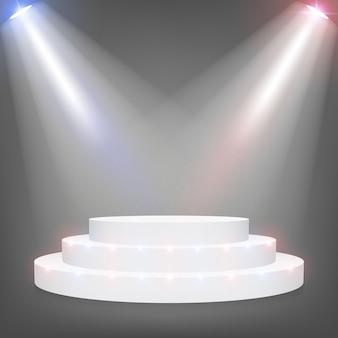 Podium de la scène 3d ronde, piédestal, plateforme, scène.