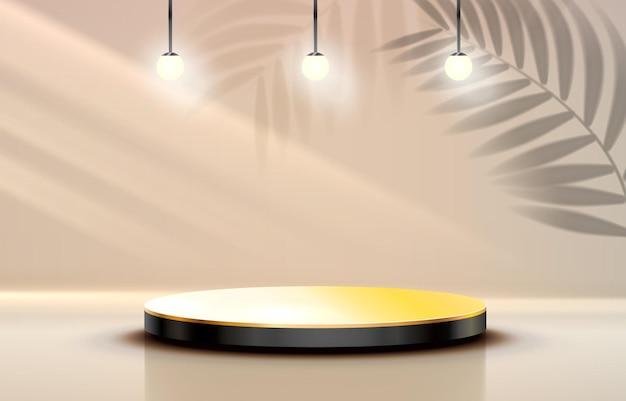 Podium de scène avec scène de podium d'éclairage