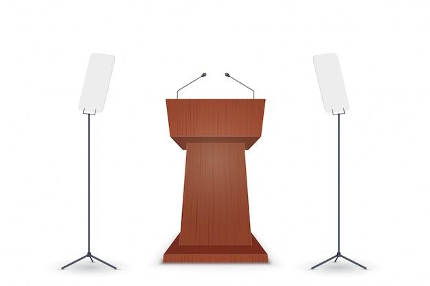 Podium tribune avec microphone