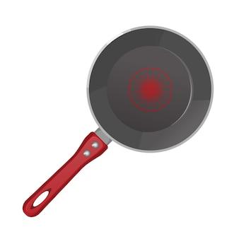 Poêle à frire vide réaliste en téflon